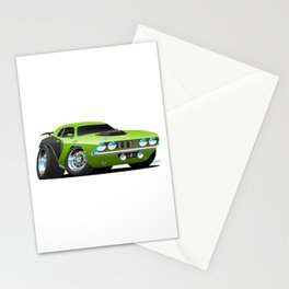 Classic Seventies Style American Muscle Car Cartoon Stationery Cards