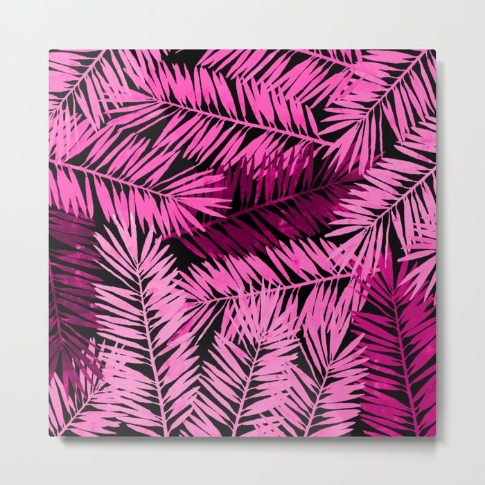 Tropical Palm Leaves IV Metal Print