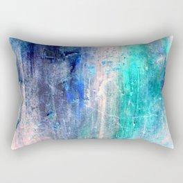 Winter Abstract Acrylic Textured Painting Rectangular Pillow