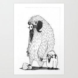 A Mother's Rage Art Print