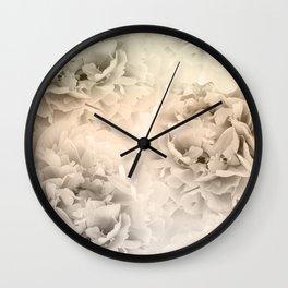 Sepia Peonies Dream #1 #floral #decor #art #society6 Wall Clock