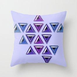 Cool Tones Gradient Trillion Pattern Throw Pillow