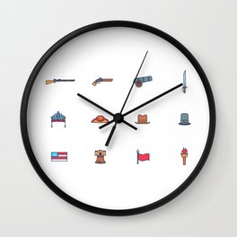 Happy National Confederacy Heroes Day Wall Clock