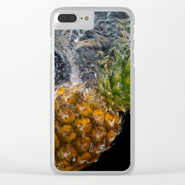 Sinking pineapple Clear iPhone Case