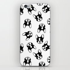 French bulldog pattern iPhone Skin