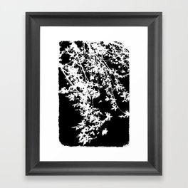 white on black Framed Art Print