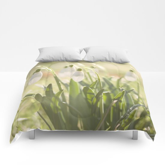 Spring is ringing - Snowdrop Snowdrops Comforters