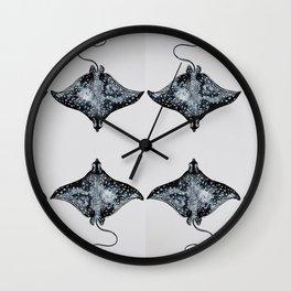 Tiled Manta Ray Wall Clock