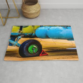 Landing Wheel Of A Military Attack Helicopter Rug