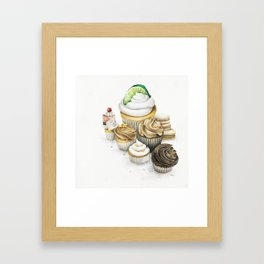 Sweet Energy Cupcakes Framed Art Print