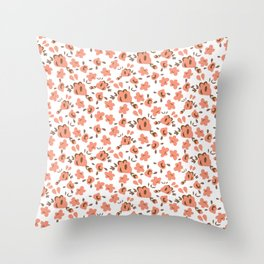 Pastel rose Throw Pillow
