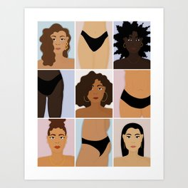BODYHAIRFACE Art Print