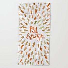 Pumpkin Spice Lifestyle Beach Towel