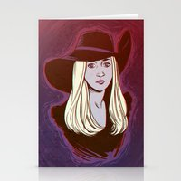 coven Stationery Cards featuring Zoe Benson / American Horror Story: Coven by jerseytigermoth