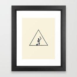 Hurdle (Triangle) Framed Art Print