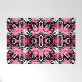 Black Pink Tribal Pattern Welcome Mat