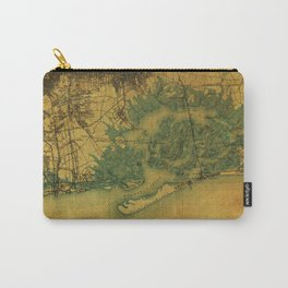 Brooklin 1898 vintage map, usa old vintage maps Carry-All Pouch