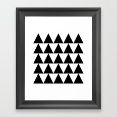 Black and White Triangle By PencilMeIn Framed Art Print