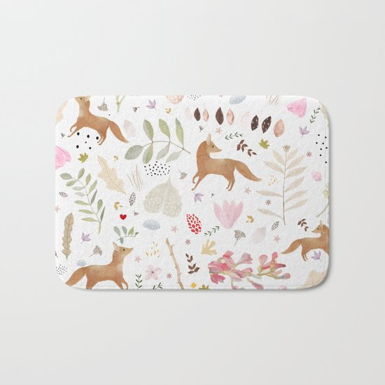 little foxes Bath Mat