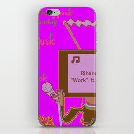 #MusicMonday Tv Head Work iPhone Skin