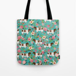 Shorthorn cattle breed farm homestead cows shorthorn cow floral Tote Bag