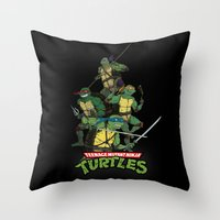 tmnt Throw Pillows featuring TMNT by Neal Julian