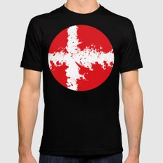 in to the sky, Denmark  MEDIUM Black Mens Fitted Tee