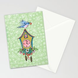 Spring Cuckoo Clock Bird Stationery Cards