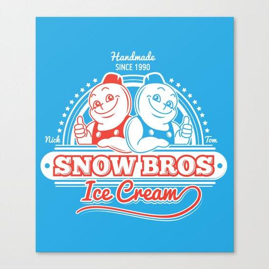Snow Bros Ice Cream Canvas Print