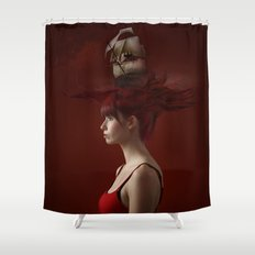 Sailing - Red Shower Curtain