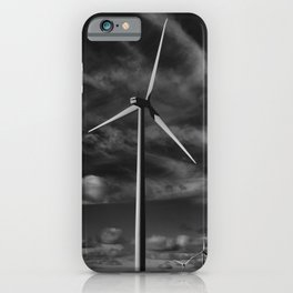 Wind Turbines #moody #blackwhite iPhone Case