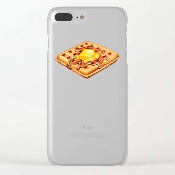 Waffle Pattern Clear iPhone Case