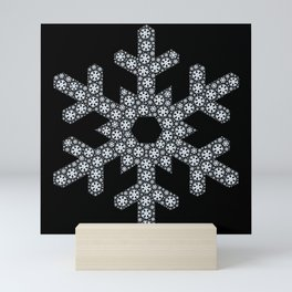 snowflake abstract pattern shape Mini Art Print