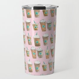 Coffee Cup Line Up in Pink Berry Travel Mug
