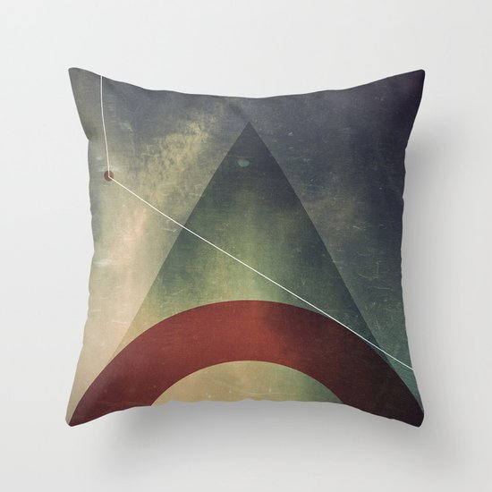 triangle half circle Throw Pillow