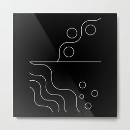 Geometric Abstract (White) Metal Print