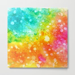 Colorful abstract in watercolor Metal Print