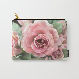 Roses Pink Peach Romantic Rose Flowers Gardening Decor Carry-All Pouch