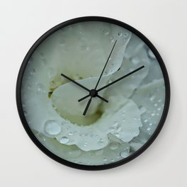 White Floral Wall Clock