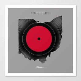 OHIO 33⅓ rpm LP Record Canvas Print