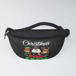 Christmas Poo Crew Poop Emoji Fanny Pack