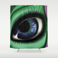 transformer Shower Curtains featuring Jaded by ShaylahLeigh