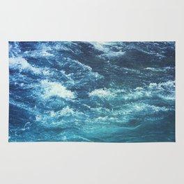 mountain river blue Rug