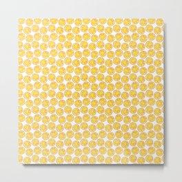 Watercolor Lemon Metal Print