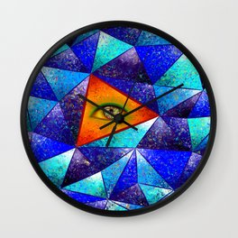 Tethrous V1 - watching triangle Wall Clock
