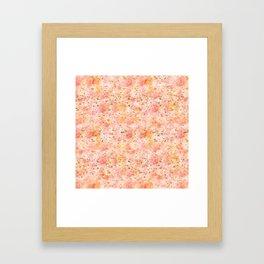 Pretty Pink Watecolor Gold Splatters Framed Art Print