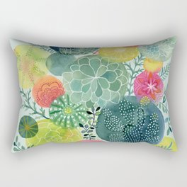Succulent Circles Rectangular Pillow