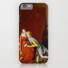 """Jean-Auguste-Dominique Ingres """"Francesca and Paolo"""" 3. iPhone Case"""