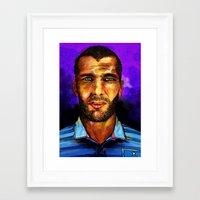 zidane Framed Art Prints featuring Zinedine Zidane by Green Diablo