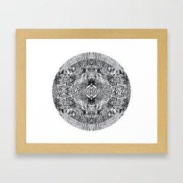 Sur-Rounding-Paths Framed Art Print